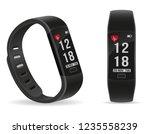digital smart fitness watch...   Shutterstock .eps vector #1235558239