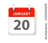 january 20 date visible on a... | Shutterstock .eps vector #1235564029