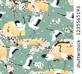 seamless pattern with japanese...   Shutterstock .eps vector #1235565193