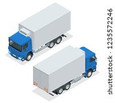 isometric truck delivery  lorry ...   Shutterstock .eps vector #1235572246