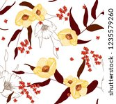 trendy floral pattern. isolated ... | Shutterstock .eps vector #1235579260