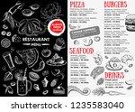 restaurant cafe menu  template...   Shutterstock . vector #1235583040