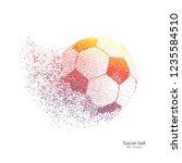 dots soccer ball .explosive...   Shutterstock .eps vector #1235584510