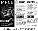 restaurant cafe menu  template... | Shutterstock . vector #1235588899