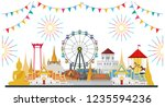 celebrate in bangkok and across ... | Shutterstock .eps vector #1235594236