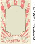 grunge vintage background with... | Shutterstock .eps vector #1235597470