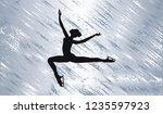 silhouette of ice skater ...   Shutterstock .eps vector #1235597923
