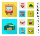 vector illustration of market... | Shutterstock .eps vector #1235599096
