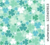 st. patrick's day background in ... | Shutterstock .eps vector #1235605813