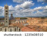 cityscape of siena  italy with... | Shutterstock . vector #1235608510