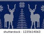 christmas seamless pattern...   Shutterstock .eps vector #1235614063