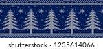blue and white christmas...   Shutterstock .eps vector #1235614066