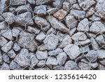 gabion protective wall | Shutterstock . vector #1235614420