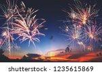 new year 2019 concept  firework ... | Shutterstock . vector #1235615869