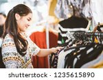 lifestyle shopping concept ... | Shutterstock . vector #1235615890