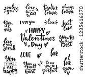 set of hand written lettering... | Shutterstock .eps vector #1235616370