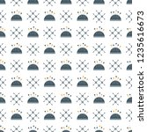 seamless pattern with needle... | Shutterstock .eps vector #1235616673