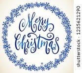 handwritten christmas greetings ...   Shutterstock .eps vector #1235621290