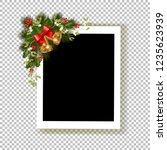 christmas photo frame. template ...   Shutterstock .eps vector #1235623939