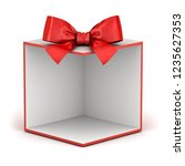 blank display gift box backdrop ... | Shutterstock . vector #1235627353