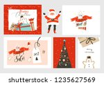 hand drawn vector abstract fun... | Shutterstock .eps vector #1235627569