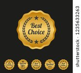 best choice label on black... | Shutterstock .eps vector #1235633263