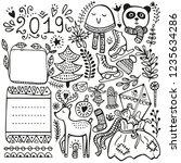 bullet journal  christmas  new... | Shutterstock .eps vector #1235634286