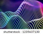 3d sound waves. big data... | Shutterstock .eps vector #1235637130