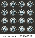 setting vector icons in the... | Shutterstock .eps vector #1235642599