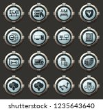 server vector icons in the... | Shutterstock .eps vector #1235643640