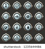 science vector icons in the... | Shutterstock .eps vector #1235644486