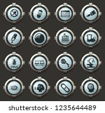 science vector icons in the... | Shutterstock .eps vector #1235644489