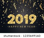 2019 happy new year background... | Shutterstock .eps vector #1235649160