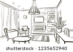 interior design of the... | Shutterstock .eps vector #1235652940