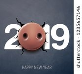 happy new year banner  poster ... | Shutterstock .eps vector #1235657146