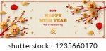 horizontal banner with gold... | Shutterstock .eps vector #1235660170