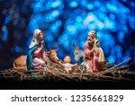 Statuettes Of The Nativity. Crib