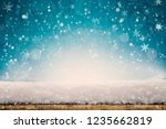 winter christmas background... | Shutterstock . vector #1235662819