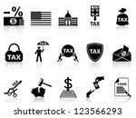 black tax icons set | Shutterstock .eps vector #123566293