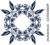 awesome jasmin flowers frame.... | Shutterstock .eps vector #1235668609