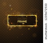 golden frame with lights... | Shutterstock .eps vector #1235672533