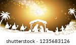 the holy family with king wise...   Shutterstock .eps vector #1235683126