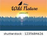 logo elements. nature landscape ... | Shutterstock .eps vector #1235684626