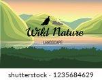 logo elements. nature landscape ... | Shutterstock .eps vector #1235684629