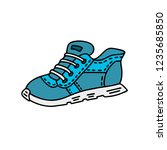 hand drawn sports shoes. vector ... | Shutterstock .eps vector #1235685850