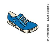 hand drawn outdoor shoes.... | Shutterstock .eps vector #1235685859