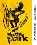 skate park vector art   Shutterstock .eps vector #123568834