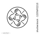 hands support each other ... | Shutterstock .eps vector #1235692213