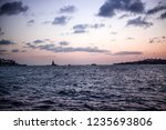 maiden's tower  leandros tower  ... | Shutterstock . vector #1235693806