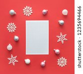 christmas mockup with open... | Shutterstock . vector #1235694466